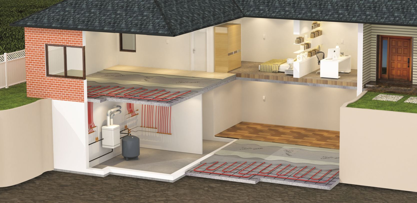 Combine nVent NUHEAT with Hydronic Heating Systems