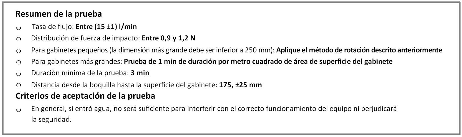 Protección IPX9 según las normas IEC