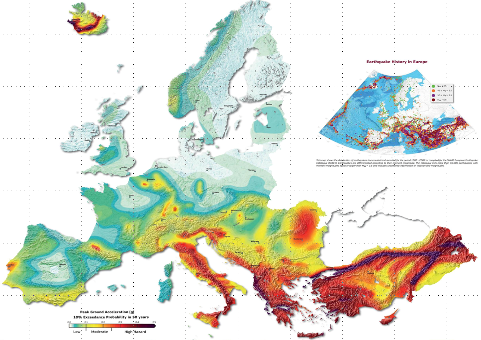EMEA Seismic Map