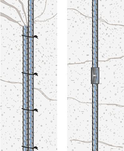 Lap splice versus a mechanical coupler
